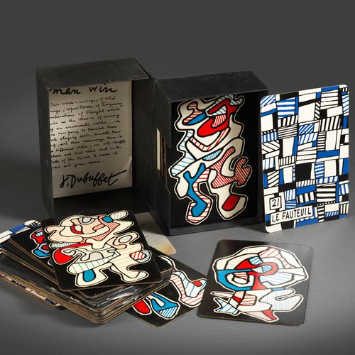 Jean DUBUFFET DUBUFFET (Jean). Bank of the Hourloupe, Playing cards and to draw.…