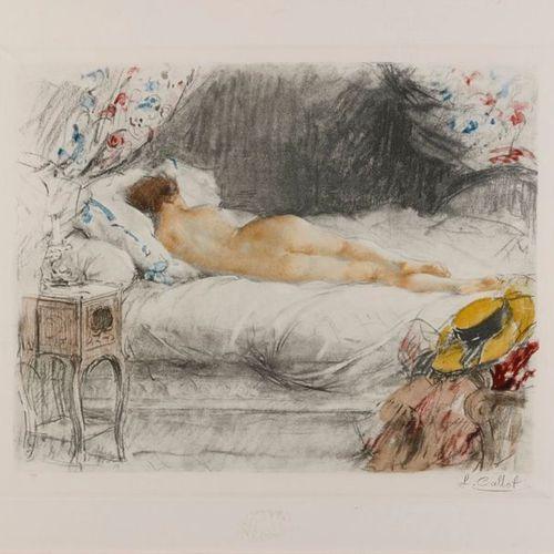ANTOINE CALBET Antoine CALBET (186 1944) Nude Engraving signed below right 34 x …