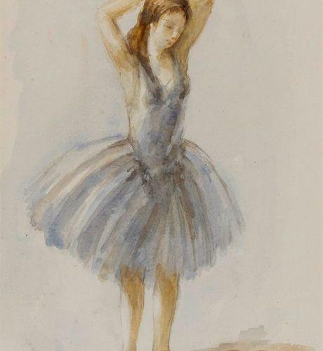 Marcel Dyf Marcel COSSON (1878 1956) Ballerine Aquarelle signée ne bas à droite …