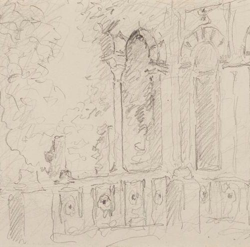 Alexandre ROUBTZOFF Alexandre ROUBTZOFF (1884 1949) Patio, Tunis, Dessin au cray…