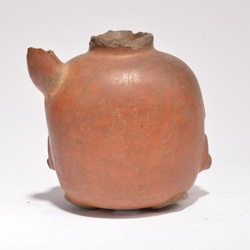 A Nazca cephalomorphic vessel Peru, circa 100 800 AD pottery with remains of pai…