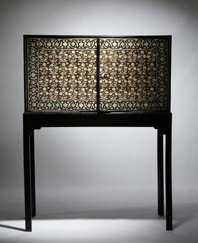 ? A MUGHAL INDIAN EBONY AND IVORY CABINET GUJARAT OR SINDH, LATE 17TH / EARLY 1…