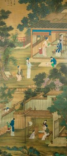 ATTRIBUTED TO TANG YIN (MING/QING DYNASTY) SERICULTURE A Chinese painting, ink a…