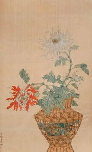 AFTER LANG SHINING/GIUSEPPE CASTIGLIONE (19TH CENTURY) CHRYSANTHEMUM A Chinese p…