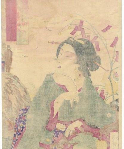 A SET OF TWELVE JAPANESE WOODBLOCK PRINTS BY TSUKIOKA YOSHITOSHI (1839 1892) MEI…
