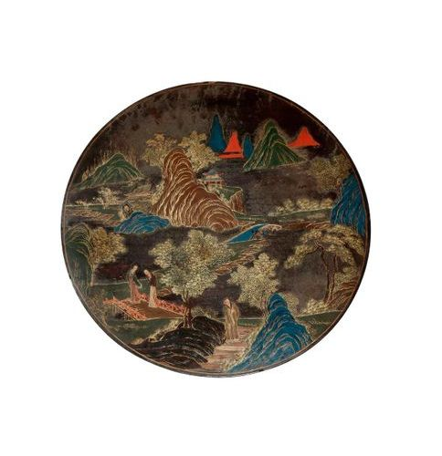 A CHINESE FAMILLE ROSE CANTON ENAMEL SWEETMEAT SET CONTAINED IN A LACQUER BOX 19…