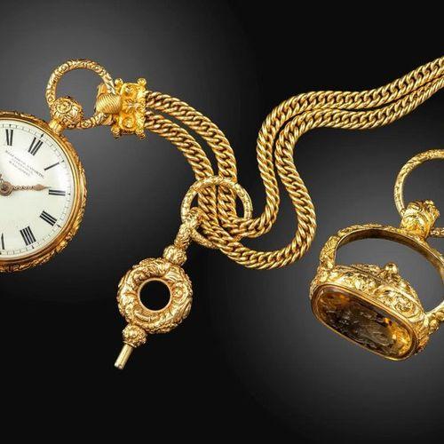 Une montre de poche George III en or à cadran ouvert d'Elizabeth Haworth de Live…