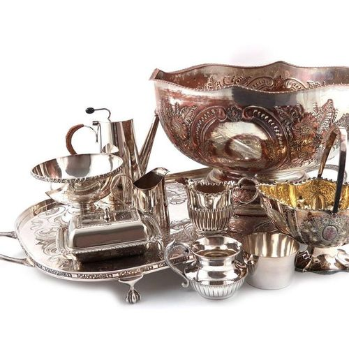 ?A large quantity of electroplated items, including a four piece tea and coffee …
