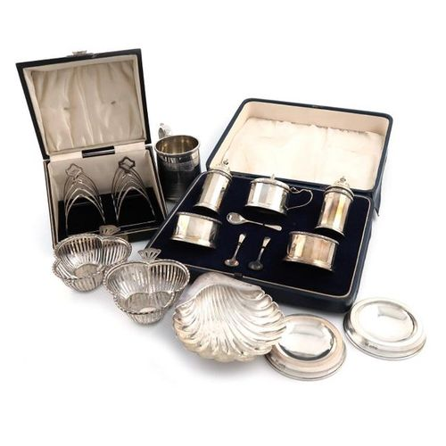 A mixed lot of silver items, various dates and makers, comprising: an early Vict…