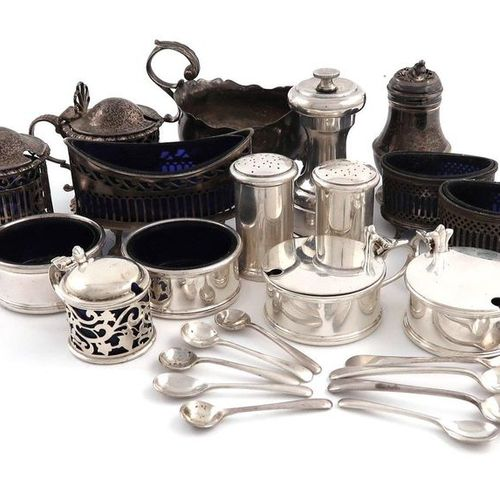 A mixed lot of silver items, comprising: a George III Cream boat, London 1769, o…