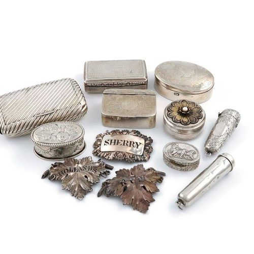 A mixed lot of silver items, various dates and makers, comprising: a late Victor…