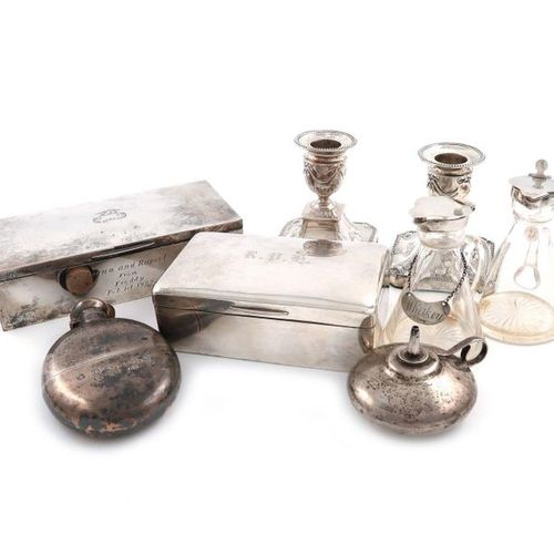 A mixed lot of silver items, various dates and makers, comprising: a pair of Edw…
