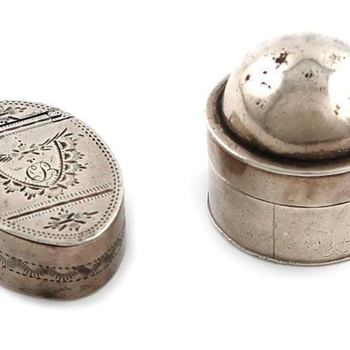 A George III silver box, by Samuel Pemberton, Birmingham 1796, oval form, flush …