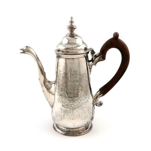 A George III Irish provincial silver coffee pot, by Carden Terry, Cork circa 178…