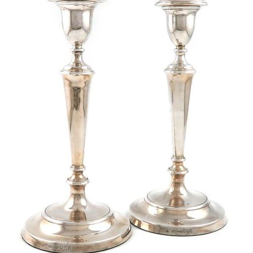 A pair of modern silver candlesticks, by M C Hersey & Son Ltd, London circa 2000…