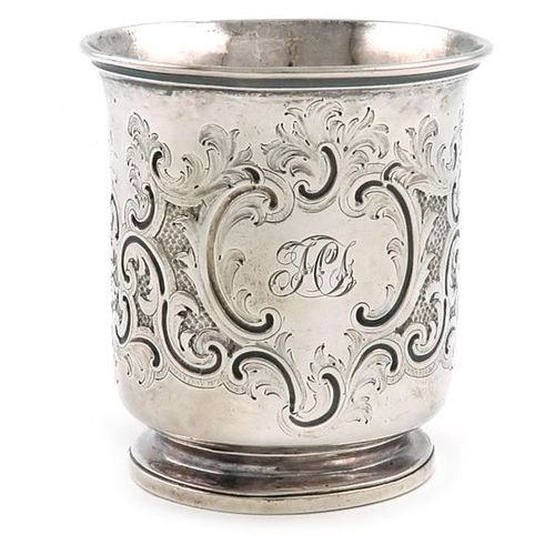 A Victorian silver beaker, by J and A Savory, London 1847 Please note: this item…