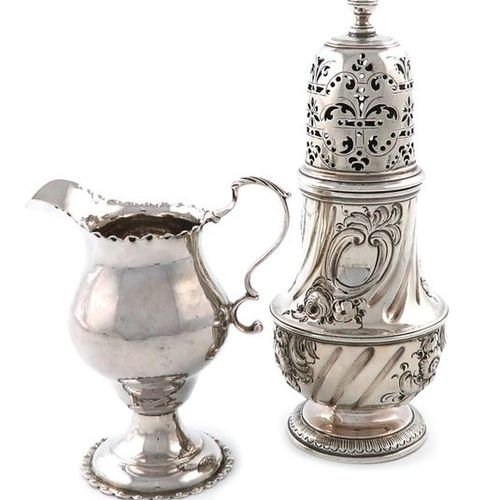 A George II silver sugar caster, by Thomas Bamford, London 1733, circular bellie…