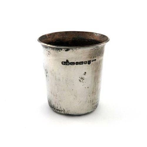 By Simon Beer, a modern silver beaker, Sheffield 2009, also marked with the Lewe…