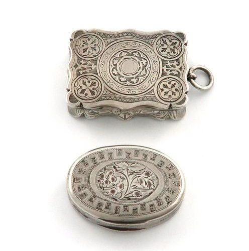 A George III silver vinaigrette, by William Boot, Birmingham 1804, oval form, en…