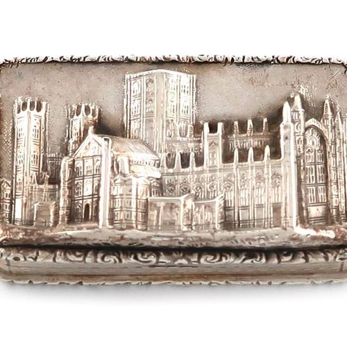 A Victorian silver 'Castle top' vinaigrette, York Minister, by Nathaniel Mills, …