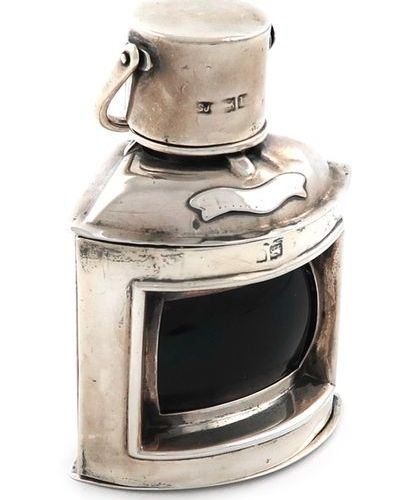 A late Victorian silver starboard light, by Samuel Jacob, London 1899, hinged co…