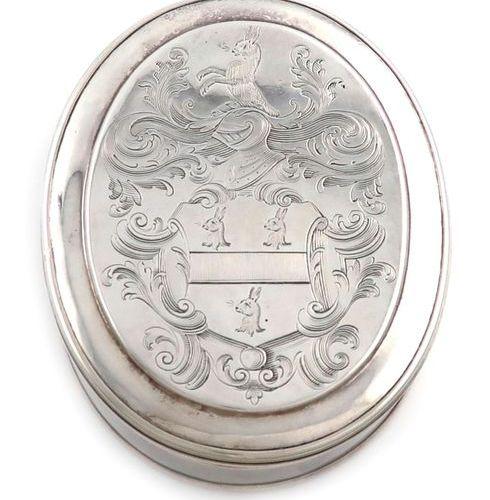 A George I silver tobacco box, by Edward Cornock, London 1723, oval form, the co…