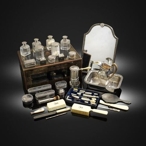 ?The Haig Toilet Service, a fine 19th century French silver gentleman's travelli…