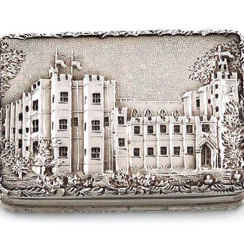A Victorian silver 'castle top' vinaigrette, Kenilworth Castle, by Nathaniel Mil…