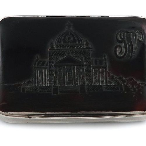 ?An early 18th century silver and tortoiseshell paint box, maker's mark only T.P…