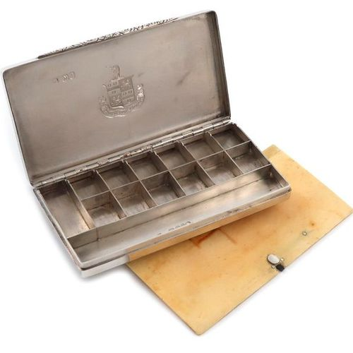 ?An early Victorian silver paint box, by Rawlings and Summers, London 1841, rect…