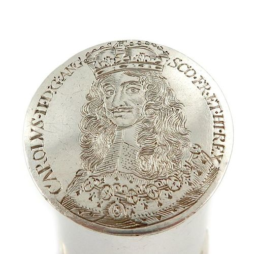 A Charles II silver counter box, maker's mark probably I.F, circa 1660, cylindri…