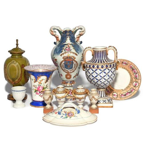 A study collection of ceramics 18th century and later, including a pair of minia…