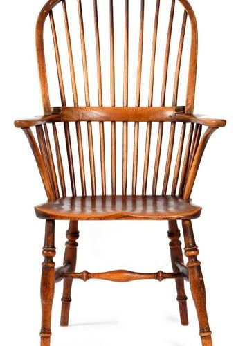 A LATE GEORGE III ASH AND ELM WINDSOR ARMCHAIR THAMES VALLEY, EARLY 19TH CENTURY…