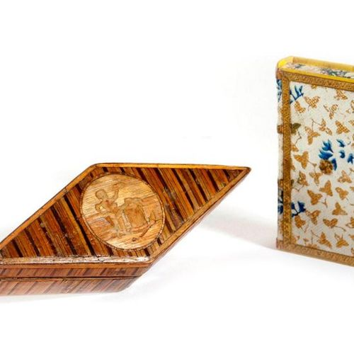 A FRENCH PRISONER OF WAR STRAW WORK BOX EARLY 19TH CENTURY of lozenge shape, the…