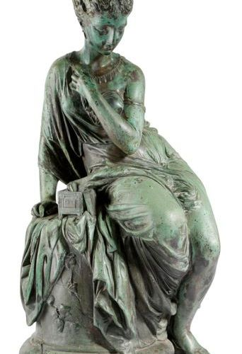 A PATINATED BRONZE FIGURE OF PANDORA AFTER JEAN JULES SALMSON (FRENCH 1823 1902)…