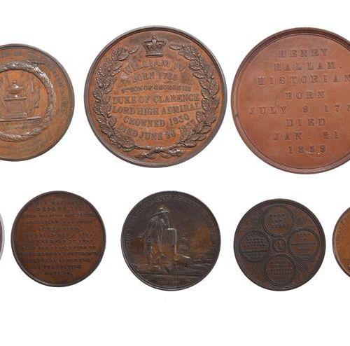 """一小批英国纪念章,都是AE,包括。乔治三世,48毫米,左半身盔甲,花圈内有 """"他已经走完了他的旅程,并在祝福中安睡"""",非常好;约克公爵殿下1827年,51毫米,…"""