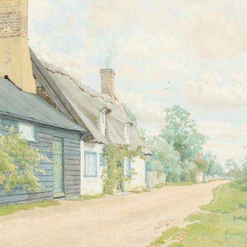 William Fraser Garden (Écossais 1856 1921) Une ruelle tranquille Signé et daté W…