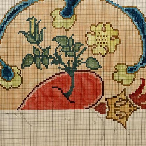 Charles Francis Annesley Voysey (1857 1941) Design for a Tomkinsons carpet (Hear…