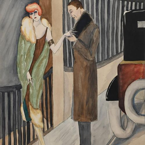 ‡ Dorte Clara Dodo Burgner (1907 1998) La Proposition aquarelle sur papier d'un …