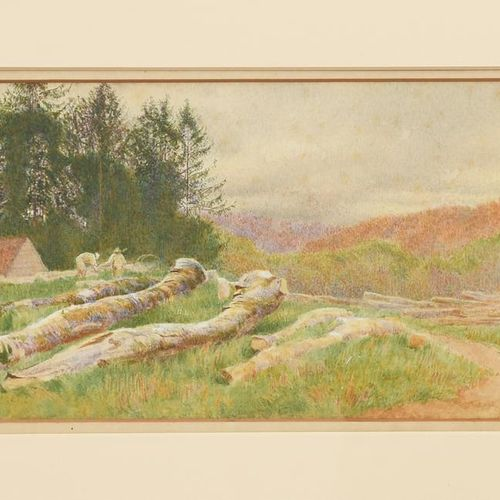 Constance Phillott (1842 1931) Sketch of Arundel Woods, 1869 aquarelle sur papie…