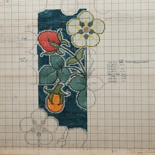 Charles Francis Annesley Voysey (1857 1941) Design pour un tapis Tomkinsons (Fra…