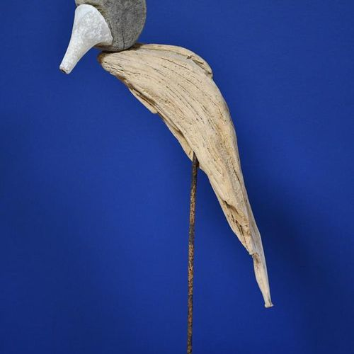 ‡ Sid Burnard (born 1948) Stiletto Parakeet (Lola) 2014 driftwood sculpture with…