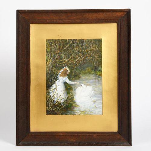 Edward Gurden Dalziel (1849 1889) Le vilain petit canard aquarelle sur papier, m…