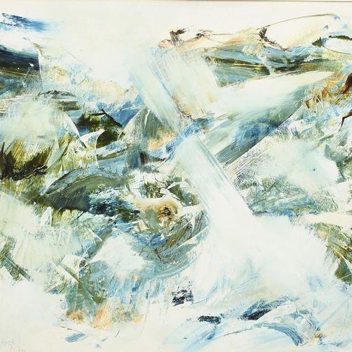 Jon Catleugh (1920 2009) Untitled, 1960 acrylique sur papier, monté, quatre acry…