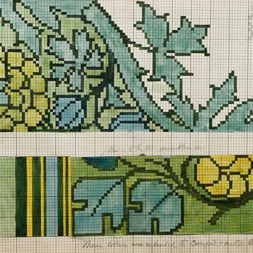 Charles Francis Annesley Voysey (1857 1941) Dessin pour un tapis Tomkinsons, (bo…
