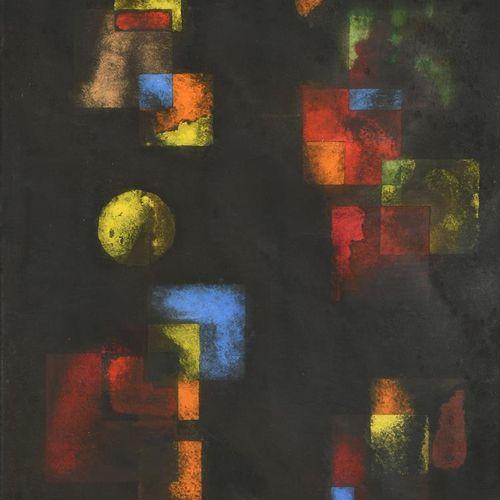 Keith Newstead (né en 1943) Blue Mystery gouache sur papier, Veils gouache sur p…