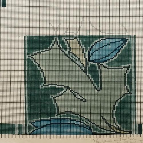 Charles Francis Annesley Voysey (1857 1941) Dessin pour un tapis Tomkinsons, (Ho…