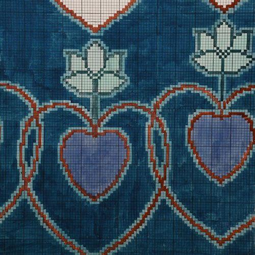 Charles Francis Annesley Voysey (1857 1941) Design pour un tapis Tomkinsons (Pur…