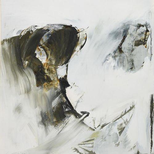 Jon Catleugh (1920 2009) Untitled, 1961 un début d'acrylique sur papier, monté, …