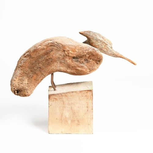 ‡ Sid Burnard (born 1948) Grounded Rootler 2008 driftwood sculpture on a wooden …
